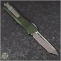(#144-4OD) Microtech OD Green Combat Troodon Tanto Satin Plain - Back