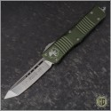 (#144-4OD) Microtech OD Green Combat Troodon Tanto Satin Plain - Front