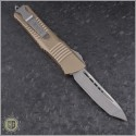 (#144-4TA) Microtech Tan Combat Troodon Tanto Satin Plain - Back