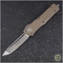 (#144-4TA) Microtech Tan Combat Troodon Tanto Satin Plain - Front