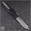 (#144-5) Microtech Combat Troodon Tanto Satin Partially Serrated - Back