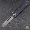 (#144-5) Microtech Combat Troodon Tanto Satin Partially Serrated - Front
