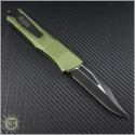 (#146-1OD) Microtech Combat Troodon Black Bowie Standard w/ OD Green Handle - Back