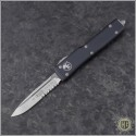 (#148-5) Microtech UTX-70 S/E Satin Partially Serrated - Front