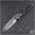 (#161-4OD) Microtech Socom Elite M/A Tanto Satin Plain w/ OD Green Handle - Front