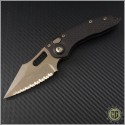 (#169-15) Microtech Stitch Auto Bronze Full Serrated - Front