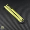 (#173-1DLCLG) Microtech Lime Green Tachyon III Black DLC Plain - Additional View