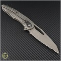 (#196-12APCF) Microtech Sigil Apocalyptic w/ Carbon Fiber Fully Serrated - Back