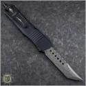 (#219-16BKTI) Microtech Combat Troodon Hellhound Damascus Standard CF Top - Back