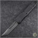 (#219-16BKTI) Microtech Combat Troodon Hellhound Damascus Standard CF Top - Front