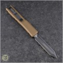 (#223-1TA) Microtech Tan Spartan Ultratech D/E Black Plain - Back