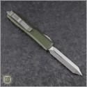 (#223-4OD) Microtech OD Green Spartan Ultratech D/E Satin Plain - Back
