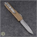 (#231-10TA) Microtech UTX-85 S/E Stonewash Plain w/ Tan Handle - Back