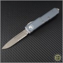 (#231-11APGY) Microtech Gray UTX-85 S/E Apocalyptic Part Serr - Front