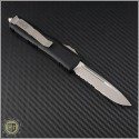 (#231-11) Microtech UTX-85 S/E Stonewash Part Serrated - Back