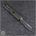 (#231-2OD) Microtech OD Green UTX-85 S/E Black Part Serrated - Back