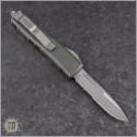 (#231-5OD-ELMAX) Microtech OD Green UTX-85 S/E Satin Part Serrated - Back