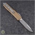 (#231-5TA) Microtech Tan UTX-85 S/E Satin Serrated - Back