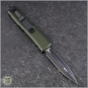 (#232-1OD) Microtech OD Green UTX-85 D/E Black Plain - Back