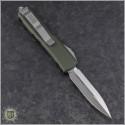 (#232-4OD-ELMAX) Microtech UTX-85 D/E Satin Plain w/ OD Green Handle - Back