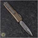 (#232-4TA) Microtech Tan UTX-85 D/E Satin Plain - Back