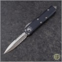 (#232-5) Microtech UTX-85 D/E Satin Partially Serrated - Front