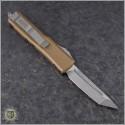 (#233-10TA) Microtech Tan UTX-85 T/E Stonewash Plain - Back