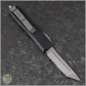 (#233-11) Microtech UTX-85 T/E Stonewash Partially Serrated - Back