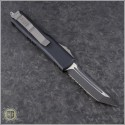 (#233-2) Microtech UTX-85 T/E Black Partially Serrated - Back