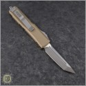 (#233-4TA) Microtech Tan UTX-85 T/E Satin Plain - Back