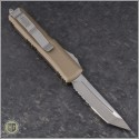 (#233-5TA) Microtech UTX-85 T/E Satin Partially Serrated w/ Tan Handle - Back