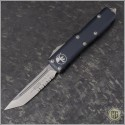 (#233-5) Microtech UTX-85 T/E Satin Partially Serrated - Front