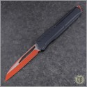 (#241M-1RDBK) Microtech Cipher MK7 S/E Red Standard Black Hardware w/ Red Chip - Front