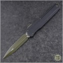 (#242M-1GRB) Microtech Cypher MK7 D/E OD Green Blade & Hardware - Front