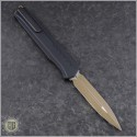 (#242M-1TNBK) Microtech Cypher MK7 D/E Tan Blade & Black Hardware with Tan Chip - Back