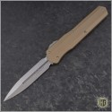 (#242S-10TA) Microtech Cypher D/E Standard w/ Tan Handle - Front