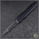 (#242S-3T) Microtech Cypher D/E Smooth Tactical Full Serrated - Front