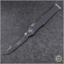 (#250-1NS) Microtech Halo VI T/E Black Plain No Safety - Front