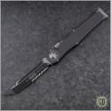 (#250-2) Microtech Halo VI T/E Black Serr - Front