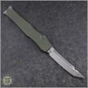 (#250-4ODNS) Microtech OD Green Halo VI T/E Satin Plain No Safety - Back