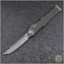 (#250-4ODNS) Microtech OD Green Halo VI T/E Satin Plain No Safety - Front