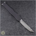 (#250-5NS) Microtech Halo VI T/E Satin Part Serrated No Safety - Back