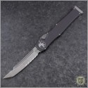 (#250-5NS) Microtech Halo VI T/E Satin Part Serrated No Safety - Front
