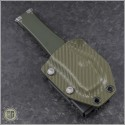 (#250-5ODNS) Microtech OD Green Halo VI T/E Satin Part Serrated No Safety - Additional View