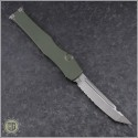 (#250-5ODNS) Microtech OD Green Halo VI T/E Satin Part Serrated No Safety - Back