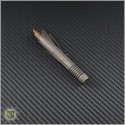 (#400-FO-TI-FOBR) Microtech Siphon II Pen Fallout Finish Titanium Fallout Finish Brass Internals & DLC Hardware - Back
