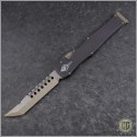 (#519-13) Microtech Bronzed Halo VI Hellhound Tanto Bronzed Plain - Front