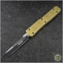 (#B121-1) Microtech Ultratech S/E Black Plain w/ Brass Handle - Front