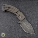 (#CF-Apex-FL-1) Crusader Forge Apex Ti Handle - Damascus - Back