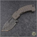 (#CF-Apex-FL-1) Crusader Forge Apex Ti Handle - Damascus - Front